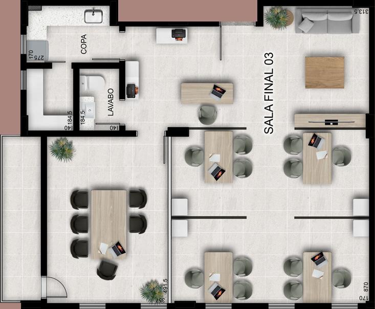 Sala tipo 3